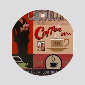 Vintage poster - Cappuccino Round Ornament