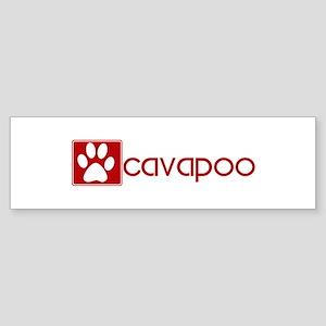 Cavapoo (dog paw red) Bumper Sticker