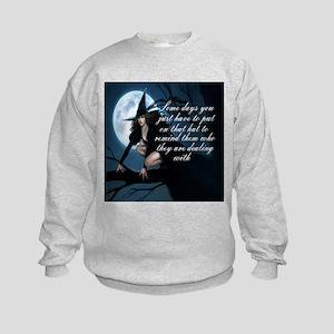 witch humor Kids Sweatshirt