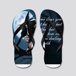 witch humor Flip Flops