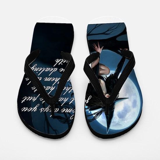 witch humor Flip Flops