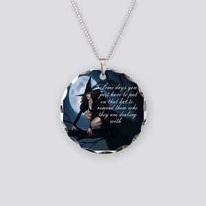 witch humor Necklace Circle Charm