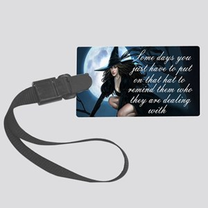 witch humor Large Luggage Tag