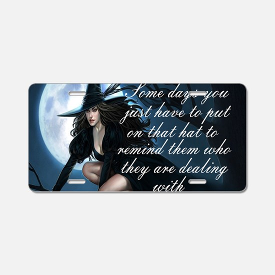 witch humor Aluminum License Plate