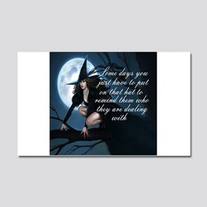 witch humor Car Magnet 20 x 12
