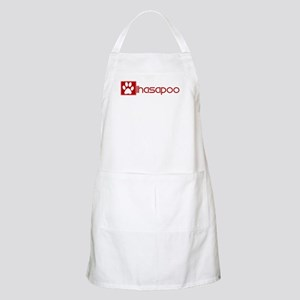 Lhasapoo (dog paw red) BBQ Apron