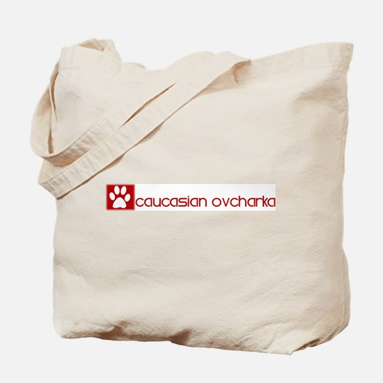 Caucasian Ovcharka (dog paw r Tote Bag