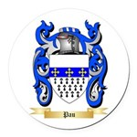 Pau Round Car Magnet
