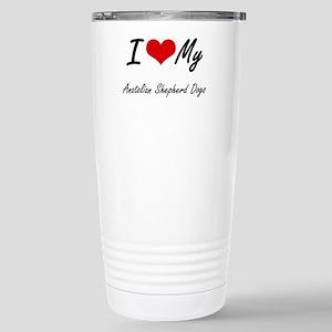 I Love My Anatolian She Stainless Steel Travel Mug