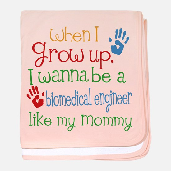 Biomedical Engineer Like Mommy baby blanket