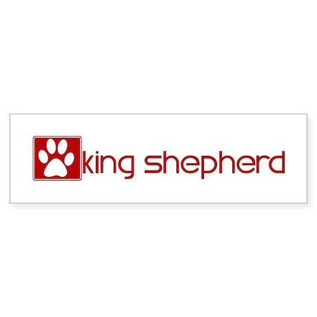 King Shepherd (dog paw red) Bumper Sticker
