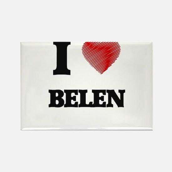 I Love Belen Magnets