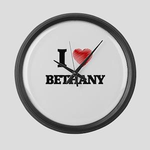 I Love Bethany Large Wall Clock