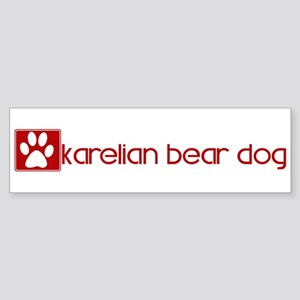 Karelian Bear Dog (dog paw re Bumper Sticker