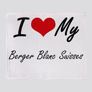I Love My Berger Blanc Suisses Throw Blanket