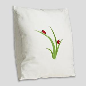 Ladybugs Burlap Throw Pillow