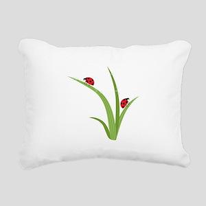 Ladybugs Rectangular Canvas Pillow