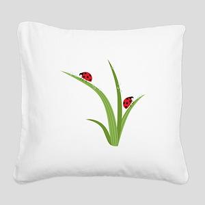 Ladybugs Square Canvas Pillow