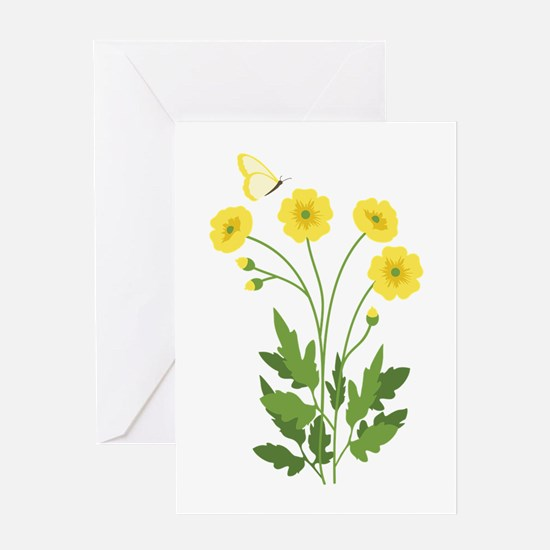 Buttercup Butterfly Greeting Cards