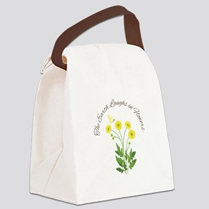 The Earth Laughs Canvas Lunch Bag
