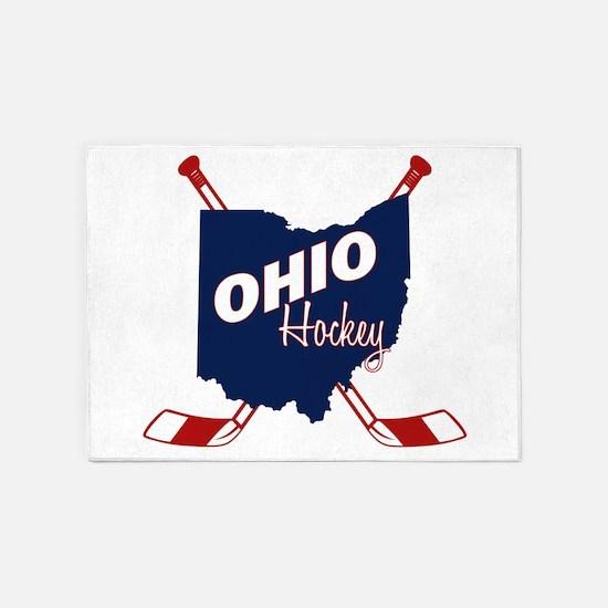 Ohio Hockey 5'x7'Area Rug