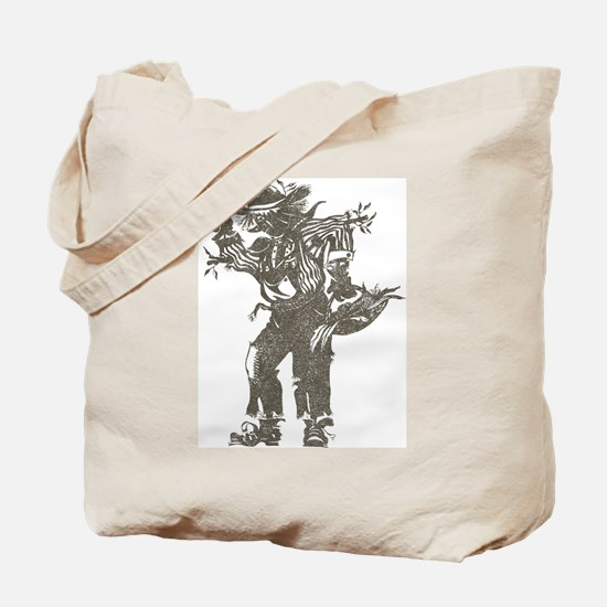 Vintage Scarecrow Tote Bag