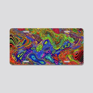 Psychedelic Aluminum License Plate