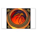 Red Raptor Logo Sticker