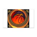 Red Raptor Logo Rectangle Car Magnet