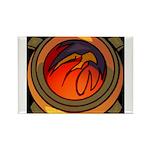 Red Raptor Logo Magnets