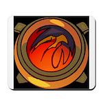 Red Raptor Logo Mousepad