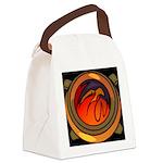 Red Raptor Logo Canvas Lunch Bag