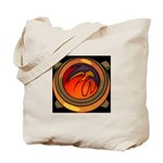 Red Raptor Logo Tote Bag