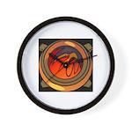 Red Raptor Logo Wall Clock