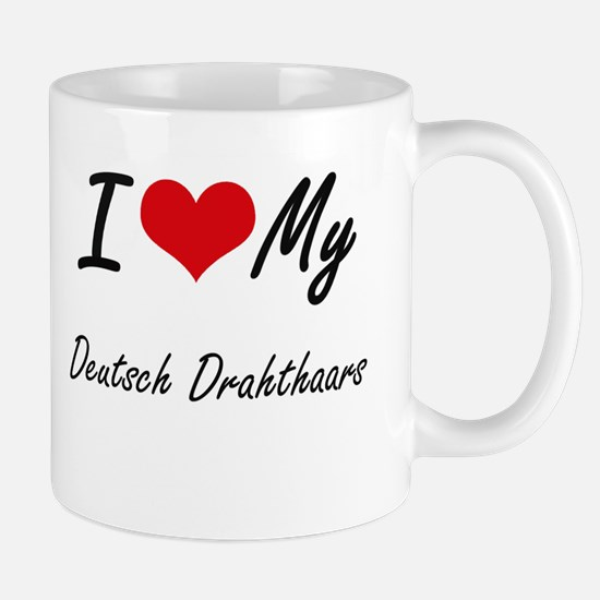 I Love My Deutsch Drahthaars Mugs