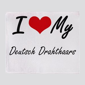 I Love My Deutsch Drahthaars Throw Blanket