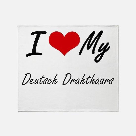 I Love My Deutsch Drahthaars Throw Blanket