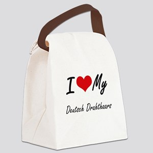 I Love My Deutsch Drahthaars Canvas Lunch Bag