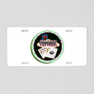 Las Vegas Welcome Sign Poke Aluminum License Plate