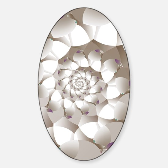 Funny Fractal art Sticker (Oval)
