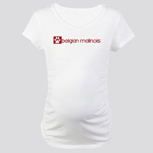 Belgian Malinois (dog paw red Maternity T-Shirt