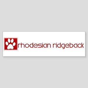 Rhodesian Ridgeback (dog paw Bumper Sticker
