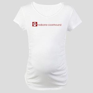 Redbone Coonhound (dog paw re Maternity T-Shirt