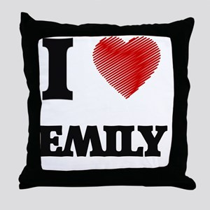 I Love Emily Throw Pillow