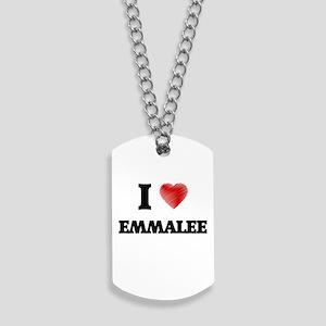 I Love Emmalee Dog Tags