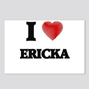 I Love Ericka Postcards (Package of 8)