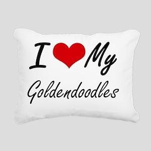 I Love My Goldendoodles Rectangular Canvas Pillow