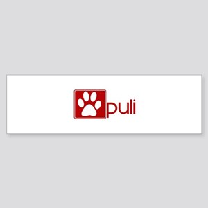 Puli (dog paw red) Bumper Sticker