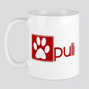 Puli (dog paw red) Mug