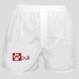 Puli (dog paw red) Boxer Shorts